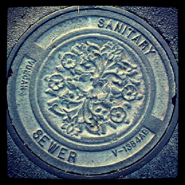 Only one #manhole cover like this in our neighborhood. #squircle