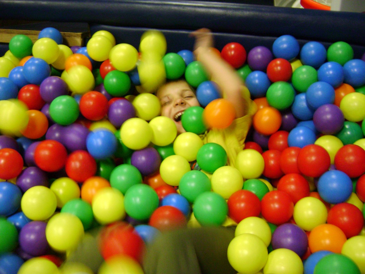 TJ and the ball pit