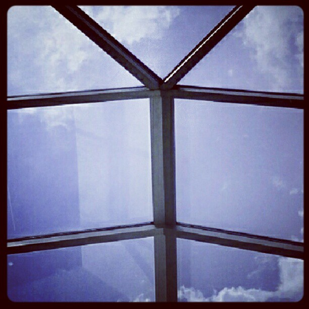 Clouds through the skylights