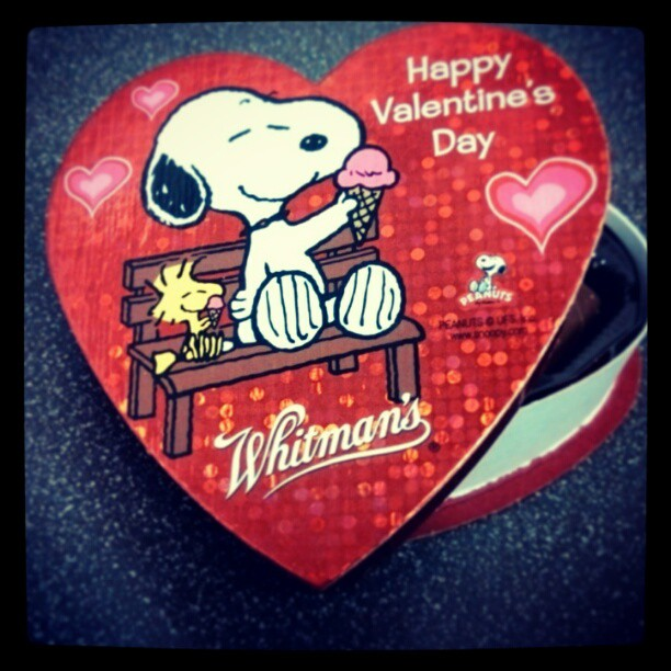 "On Valentine's Day, I'm reminded of what Forest Gump once said, ""Life is like a box of #chocolate. "" #Snoopy"